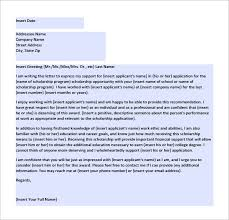 brilliant ideas of recommendation letter for college scholarship