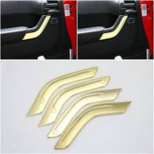 yellow jeep interior gold car interior doore bowl cover decor fit for jeepes brushed