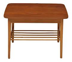 Teak Side Table Teak Side Table With Teak Rod Lower Shelf Witt Century Modern