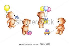 teddy in a balloon gift teddy sketch stock images royalty free images vectors