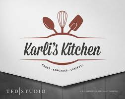 Kitchen Logo Design Bakery Catering Premade Logo Brand Guide Included Food