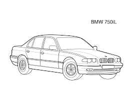 super car bmw 750il coloring page for kids printable free digi