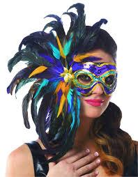 mardi gras feather masks multi color mardi gras feather costume mask costume craze