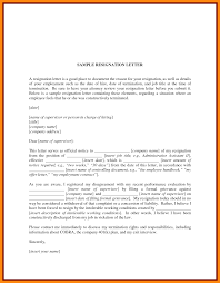 Termination Of Employment Contract Sample Letter by 10 Sample Resignation Letter With Reason Graphic Resume