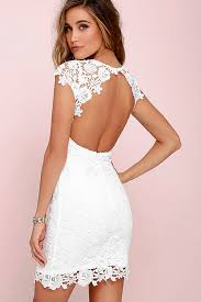 white dresses backless dress ivory dress lace dress 58 00