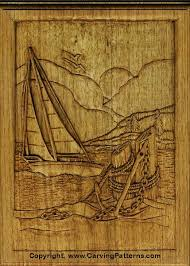 wood carving patterns sailboat relief wood carving project for