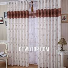 Brown Burlap Curtains Clearance Bedroom Modern Trendy White And Brown Patterned Burlap
