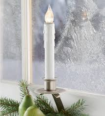 Electric Candle Lights For Windows Designs 11 H Electric Stay Put Auto On Window Candles With Slanted