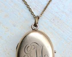 monogrammed locket beautiful antique locket gold filled etched monogrammed