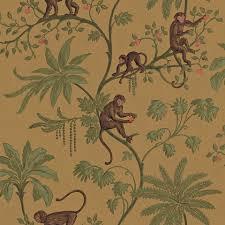 monkey wallpaper for walls monkey toile wallpaper http totalwallcovering com p22211 monkey