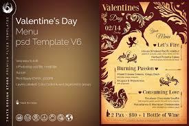 valentine u0027s day menu template v6 tds