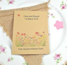 wildflower seed packets recycled wildflower seed packet wedding favour wedding favours