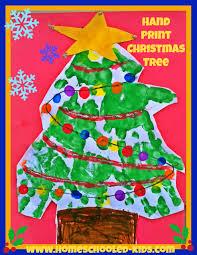 Hand Print Christmas Tree Craft For Kids Homeschooled Kids Online