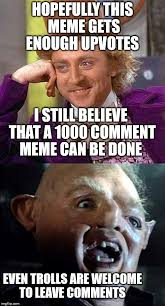 Photo Comment Meme - trolls welcome here imgflip