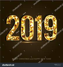 happy new year merry christmas 2019 stock vector 564502129