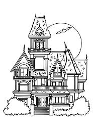 haunted house coloring pages castle coloringstar