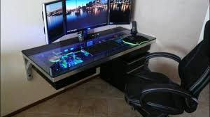 Small Pc Desks Gaming Pc Desks This Built A Custom Pc Desk And It S Rad