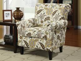 Yellow Accent Chair Cream U0026 Yellow U0026 Brown Fabric Accent Chair Caravana Furniture