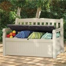 Garden Storage Bench Wooden Garden Storage Benches Foter