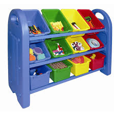 furniture interesting beige and blue tot tutors toy organizer for