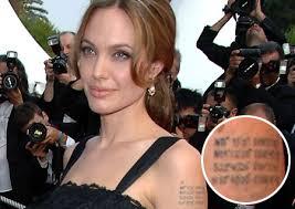 angelina goes global with tattoos metro news