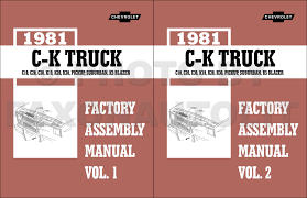 1981 chevrolet truck repair shop manual set cd pickup van blazer