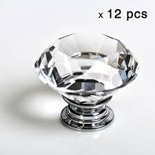 Kitchen Cabinet Door Handles Uk 12pcs Diamond Shape Crystal Glass 30mm Drawer Knob Pull Handle Usd
