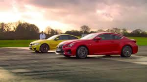 lexus rc f vs mustang gt bmw m4 coupé vs lexus rc f on top gear karage tv