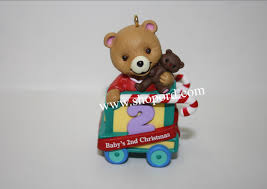 hallmark 2001 babys second ornament childs age