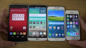 oneplus one vs lg g3 vs samsung galaxy s5 vs iphone 5s which