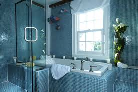 Blue Bathrooms Decor Ideas by Navy Blue Bathroom Decor Dark Grey Painted Bathroom Wall Oval
