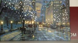 led lit battery operated new york city wall canvas