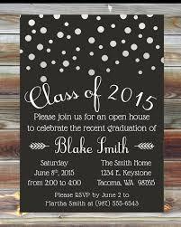 graduation open house invitations custom color graduation open house invitation chagne grad