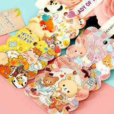 50pcs pack new japan style collage meng things lovely child packs