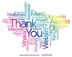 thank you word cloud background all stock vector 520294981