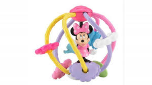 fisher price disney baby minnie mouse clutch rattle ball