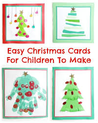 four easy christmas cards for children to make theboyandme