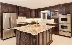 Kitchen With Maple Cabinets by Dark Maple Cabinets Kitchen Contemporary With Backsplash Bar