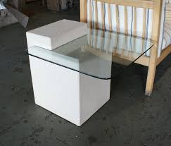 Glass Side Table by 80s Cantilevered Glass Side Table U2013 Salvage One