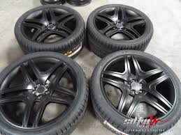 tires for mercedes 22 5 spoke style satin black rims w tires fits mercedes ml300