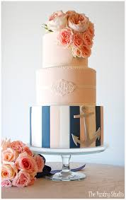 nautical themed wedding cakes blush navy and white nautical themed monogrammed
