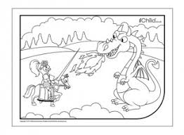 st george u0026 dragon colouring picture ichild