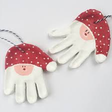 salt dough handprint santa ornaments momma society