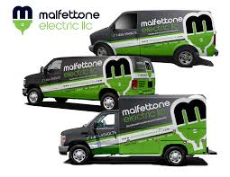 electric company truck create eye popping van design reputable electrical company