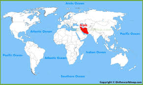 map iran iran location on the world map