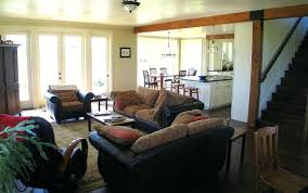 cottage open floor plans open concept living room dining room kitchen best open floor plan