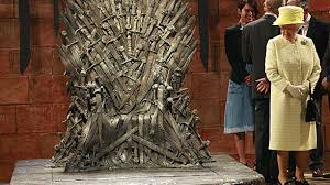 paint hall this is no game the queen meets the iron throne anglophenia