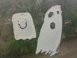 halloween kids craft ghost window clings halloween for kids