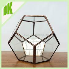 Test Tube Vases Wholesale Block Crystal Round Glass Vase Round Fish Bowl Design Thick Lead