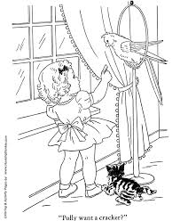 pets coloring page pet bird coloring pages free printable parakeet coloring page